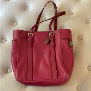 Coach leather pink shoulder bag